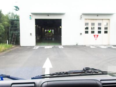 処理センター入口